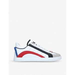 ディースクエアード dsquared2 メンズ スニーカー シューズ・靴 551 low-top leather trainers White|fermart-shoes