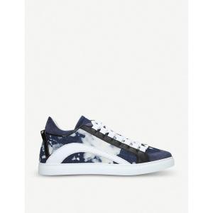 ディースクエアード dsquared2 メンズ スニーカー シューズ・靴 551 low-top leather trainers Denim|fermart-shoes