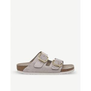 ビルケンシュトック birkenstock レディース サンダル・ミュール シューズ・靴 arizona big buckle metallic-suede sandals Washed metallic gold fermart-shoes