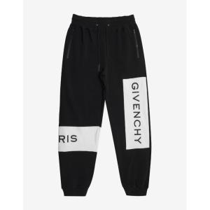 ジバンシー Givenchy メンズ スウェット・ジャージ ボトムス・パンツ Logo Panel Sweat Pants Black|fermart-shoes