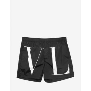 ヴァレンティノ Valentino メンズ 海パン 水着・ビーチウェア Black VLTN Swim Shorts Black|fermart-shoes