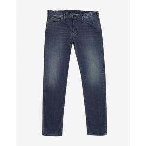 アルマーニ Emporio Armani メンズ ジーンズ・デニム ボトムス・パンツ Slim Fit Jeans Blue|fermart-shoes