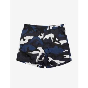 ヴァレンティノ Valentino メンズ 海パン 水着・ビーチウェア Navy & White Camouflage Print Swim Shorts Blue|fermart-shoes