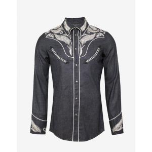 ディースクエアード Dsquared2 メンズ シャツ トップス Blue Western Denim Shirt Blue|fermart-shoes