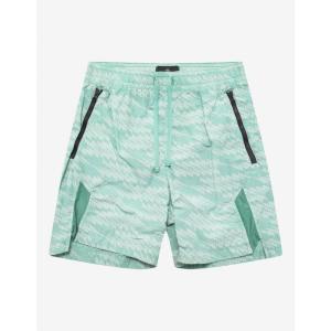 ストーンアイランド Stone Island Shadow Project メンズ 海パン 水着・ビーチウェア Turquoise Glitch Print Swim Shorts Blue|fermart-shoes
