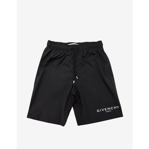 ジバンシー Givenchy メンズ 海パン 水着・ビーチウェア Classic Logo Print Swim Shorts Black|fermart-shoes