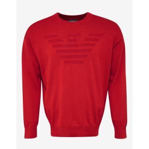 アルマーニ Emporio Armani メンズ ニット・セーター トップス Eagle Logo Sweater Red|fermart-shoes