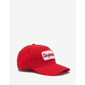 ディースクエアード Dsquared2 メンズ キャップ 帽子 Red Logo Badge Baseball Cap Red|fermart-shoes