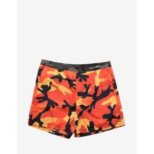 ヴァレンティノ Valentino メンズ 海パン 水着・ビーチウェア Camouflage Print Swim Shorts Orange|fermart-shoes