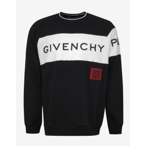 ジバンシー Givenchy メンズ スウェット・トレーナー トップス Logo Panel Sweatshirt Black|fermart-shoes