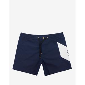 モンクレール Moncler Gamme Bleu メンズ 海パン 水着・ビーチウェア Navy Swim Shorts with Chevron Blue|fermart-shoes