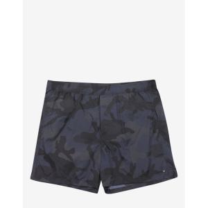 ヴァレンティノ Valentino メンズ 海パン 水着・ビーチウェア & Grey Camouflage Print Swim Shorts Blue|fermart-shoes
