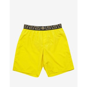 ヴェルサーチ Versace Gym メンズ 海パン 水着・ビーチウェア Greek Pattern Long Swim Shorts Yellow|fermart-shoes