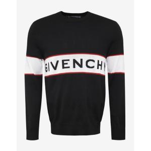 ジバンシー Givenchy メンズ ニット・セーター トップス Logo Wool Sweater Black|fermart-shoes