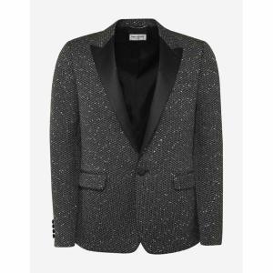 イヴ サンローラン Saint Laurent メンズ スーツ・ジャケット アウター Sequin Embellished Evening Blazer Black|fermart-shoes