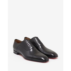 クリスチャン ルブタン Christian Louboutin メンズ 革靴・ビジネスシューズ シューズ・靴 Greggo Flat Leather Oxford Shoes Black|fermart-shoes