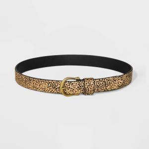 ユニバーサルスレッド Universal Thread レディース ベルト Leopard Print Faux Hair Belt - Leopard|fermart-shoes