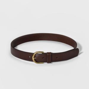 ユニバーサルスレッド Universal Thread レディース ベルト Casual Skinny Leather Jean Belt with Single Prong Buckle - Dark Brown|fermart-shoes