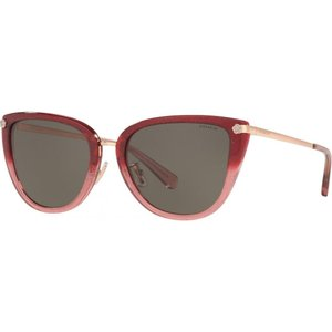 コーチ Coach レディース メガネ・サングラス HC8276 56mm Female Phantos Sunglasses burgundy/grey black|fermart-shoes
