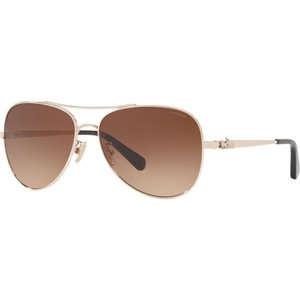 コーチ Coach レディース メガネ・サングラス HC7074 59mm Female Pilot Sunglasses gold/brown|fermart-shoes