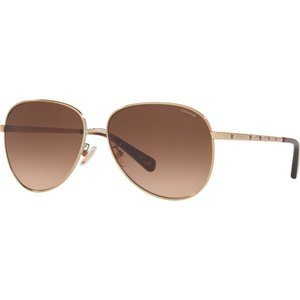 コーチ Coach レディース メガネ・サングラス HC7094 60mm Female Irregular Sunglasses gold/brown gradient|fermart-shoes