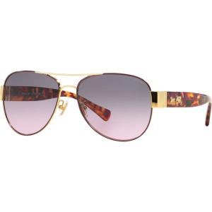コーチ Coach レディース メガネ・サングラス HC7059 58mm Female Pilot Sunglasses violet/grey black|fermart-shoes