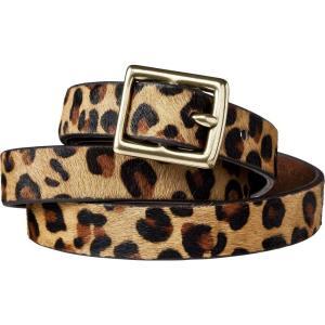 ニューデイ A New Day レディース ベルト Leopard Print Calf Hair Belt - Brown & Tan -|fermart-shoes