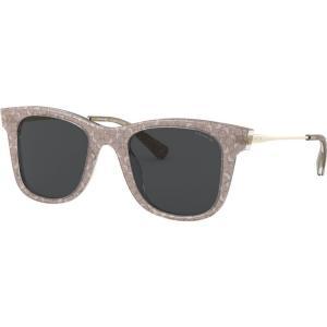 コーチ Coach レディース メガネ・サングラス スクエアフレーム HC8290 50mm Female Square Sunglasses light brown/grey black|fermart-shoes