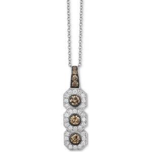 ル ヴァン Le Vian ユニセックス ネックレス Chocolatier Diamond Triple Halo 18