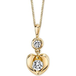 シレーナ Sirena レディース ネックレス ジュエリー・アクセサリー Energy Diamond Heart Pendant Necklace in 14k White or Yellow Gold (1/4 ct. t.w.)|fermart-shoes