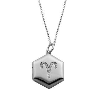 メイシーズ Macy's レディース ネックレス ジュエリー・アクセサリー Silver-Tone Cubic Zirconia Astrological Locket Necklace18