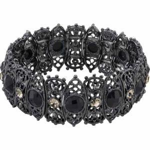 2028 ユニセックス ブレスレット ジュエリー・アクセサリー Black-Tone Stretch Bracelet Black|fermart-shoes