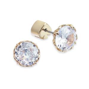 ケイト スペード kate spade new york レディース イヤリング・ピアス ジュエリー・アクセサリー Crystal Stud Earrings Clear/Gold|fermart-shoes