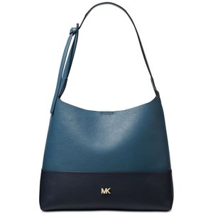 マイケル コース Michael Kors ユニセックス バッグ Junie Bicolor Pebble Leather Hobo Dark Chambray/Gold|fermart-shoes