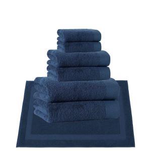 アンシャンテホーム Enchante Home ユニセックス タオル Signature 8-Pc. Turkish Cotton Towel Set Dark Blue|fermart-shoes
