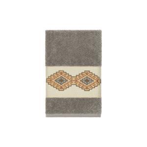 リナムホームテキスタイル Linum Home ユニセックス タオル Gianna Embroidered Turkish Cotton Hand Towel Dark Grey|fermart-shoes