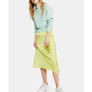 フリーピープル Free People レディース ひざ丈スカート スカート Normani Bias Midi Skirt Lime|fermart-shoes
