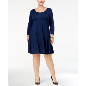 スタイル&コー Style & Co レディース ワンピース ワンピース・ドレス Plus Size Swing Dress Ink fermart-shoes