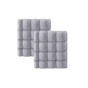 アンシャンテホーム Enchante Home ユニセックス タオル Vague 8-Pc. Wash Towels Turkish Cotton Towel Set Silver|fermart-shoes