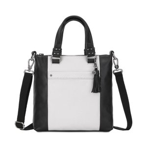 ザ サク The Sak レディース ショルダーバッグ バッグ Sequoia Leather Crossbody Black And White Block/Gold|fermart-shoes