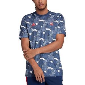 アディダス adidas メンズ サッカー Tシャツ トップス Tango Printed Soccer T-Shirt Navy Blue|fermart-shoes