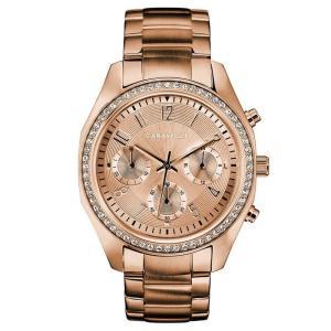 カラベル Caravelle レディース 腕時計 Chronograph Rose Gold-Tone Stainless Steel Bracelet Watch 36mm No Color|fermart-shoes