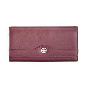 ジャーニ ベルニーニ Giani Bernini レディース 財布 Pebble Leather Receipt Wallet Wine/Silver|fermart-shoes