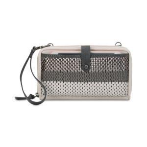 ザ サク The Sak レディース スマホケース Iris Smartphone Crossbody Wallet Metallic Woven/Silver|fermart-shoes