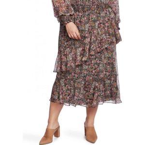 ワンステート 1.STATE レディース スカート 大きいサイズ ティアードスカート Trendy Plus Size Tiered Skirt Neo Renaissance|fermart-shoes