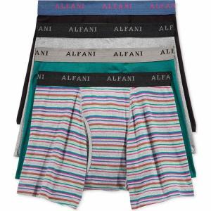 アルファニ Alfani メンズ ボクサーパンツ インナー・下着 4-Pk. Striped Boxer Briefs Boldberry/teal fermart-shoes