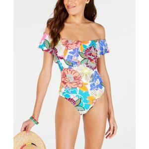 トリーナ ターク Trina Turk レディース ワンピース 水着・ビーチウェア Radiant Blooms Off-The-Shoulder One-Piece Swimsuit Multicolored|fermart-shoes