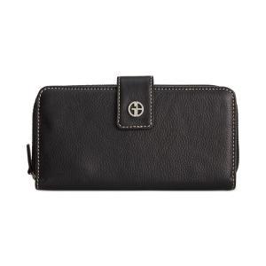 ジャーニ ベルニーニ Giani Bernini レディース 財布 Softy Leather All In One Wallet Black/Silver|fermart-shoes