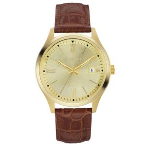 カラベル Caravelle メンズ 腕時計 Brown Leather Strap Watch 41mm No Color|fermart-shoes