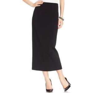 カスパール Kasper レディース スカート Crepe Column Skirt Black|fermart-shoes